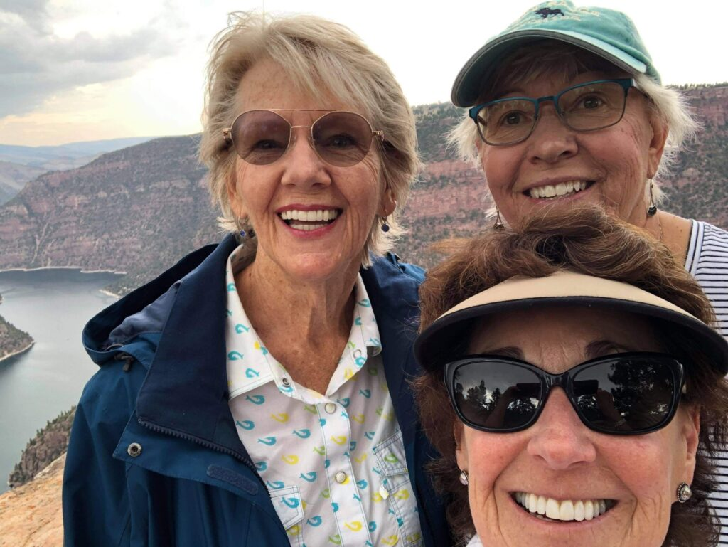 Jude Lynette Debbie at Flaming Gorge Visitor Center