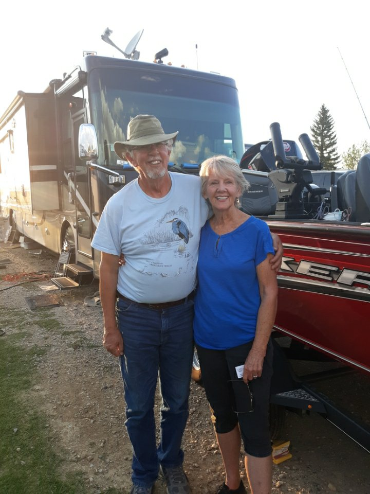 D.A. & Jude with boat & RV