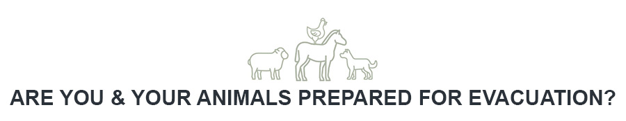 Are you & your animals prepared for evacuation?