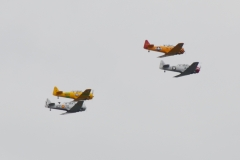 WWII squadron flyover in Mishawaka