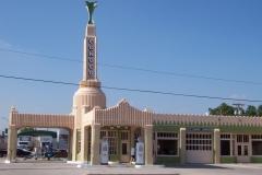Restored gas station in Shamrock,TX
