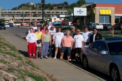 Group before leaving the hotel on Rapid City,SD for the next leg of the trip.