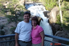 Mark & Kay Pataluch check out a waterfall somewhere in WY