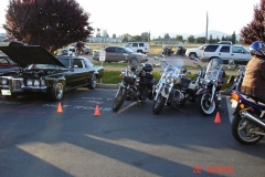 There was a biker event at the motorcycle shop next door to the Hot Rod cafe.