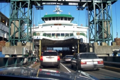 Loading up on the ferry boat