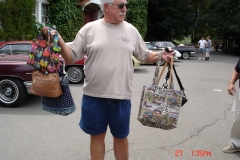 I don't remember why Les was holding the BAG.