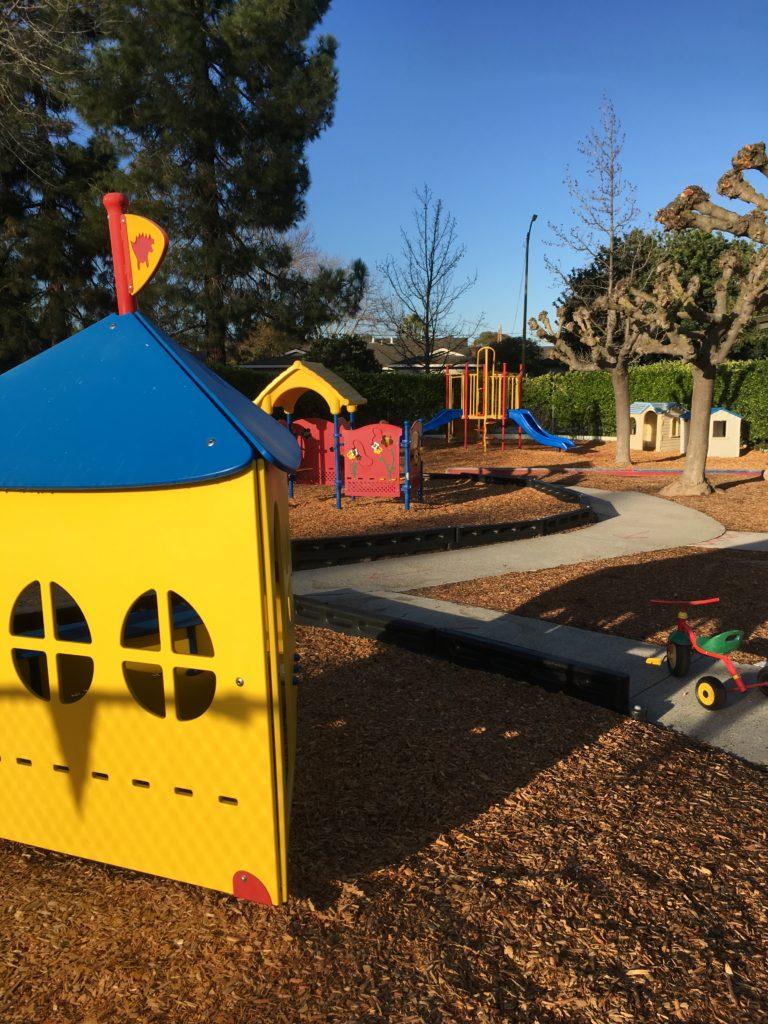 Generously sized playground