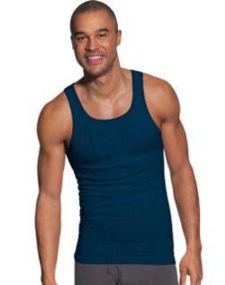 Hanes Men's FreshIQ ComfortSoft Dyed Assorted Colors Tank Undershirt 5-Pack