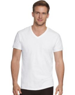 men's v neck undershirts