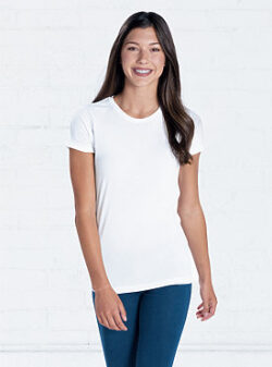 Ladies white tee shirt