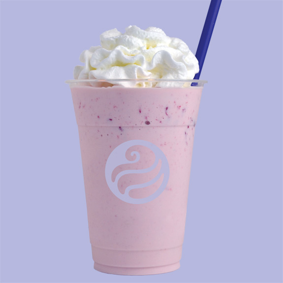 Toppers strawberry shake