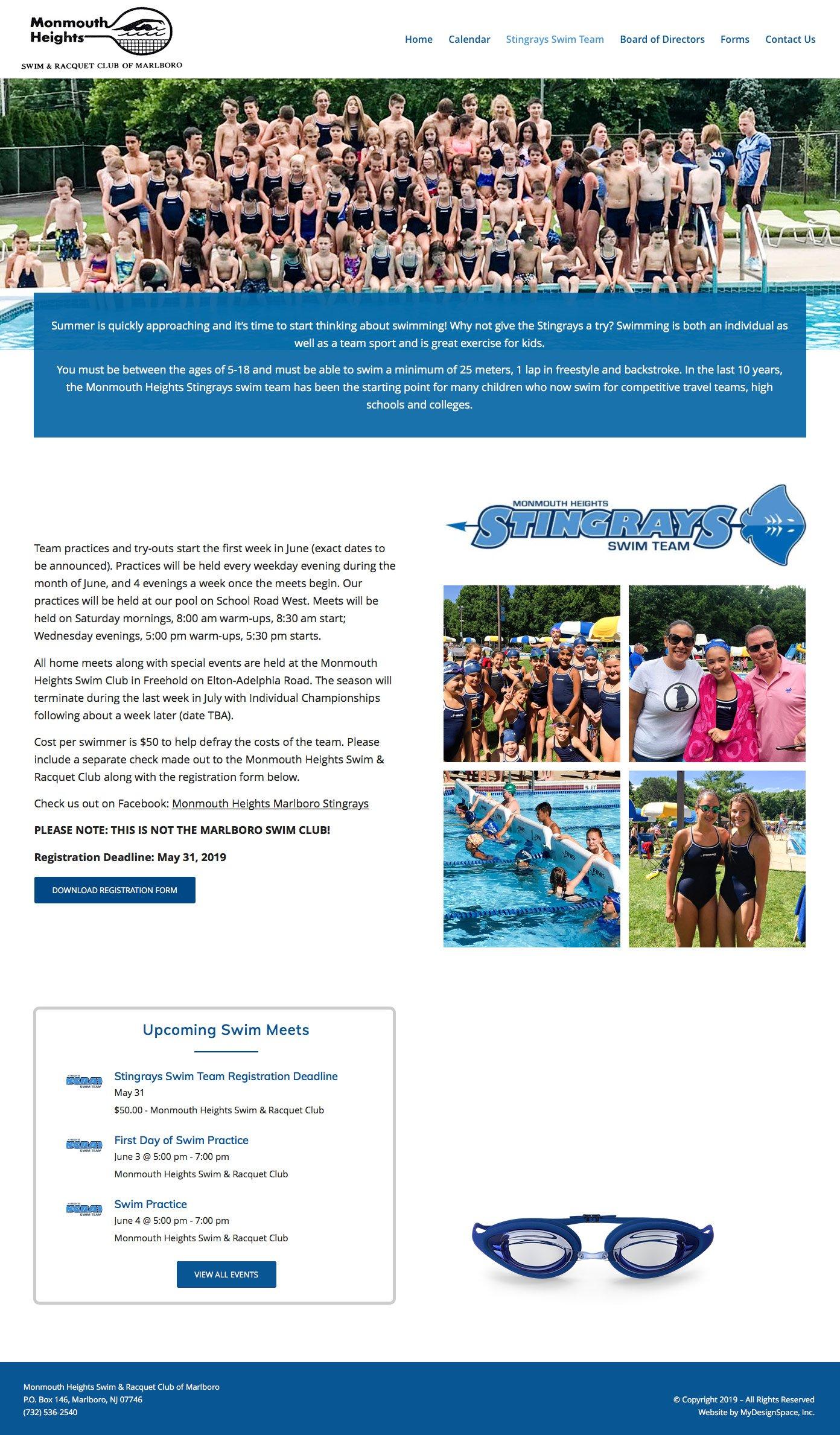 MHSRC Swim Team Page