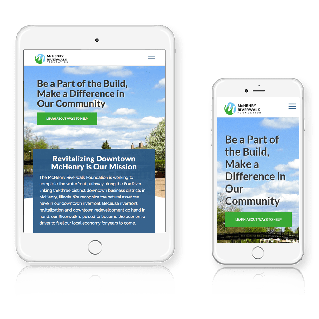 McHenry Riverwalk Foundation responsive layout