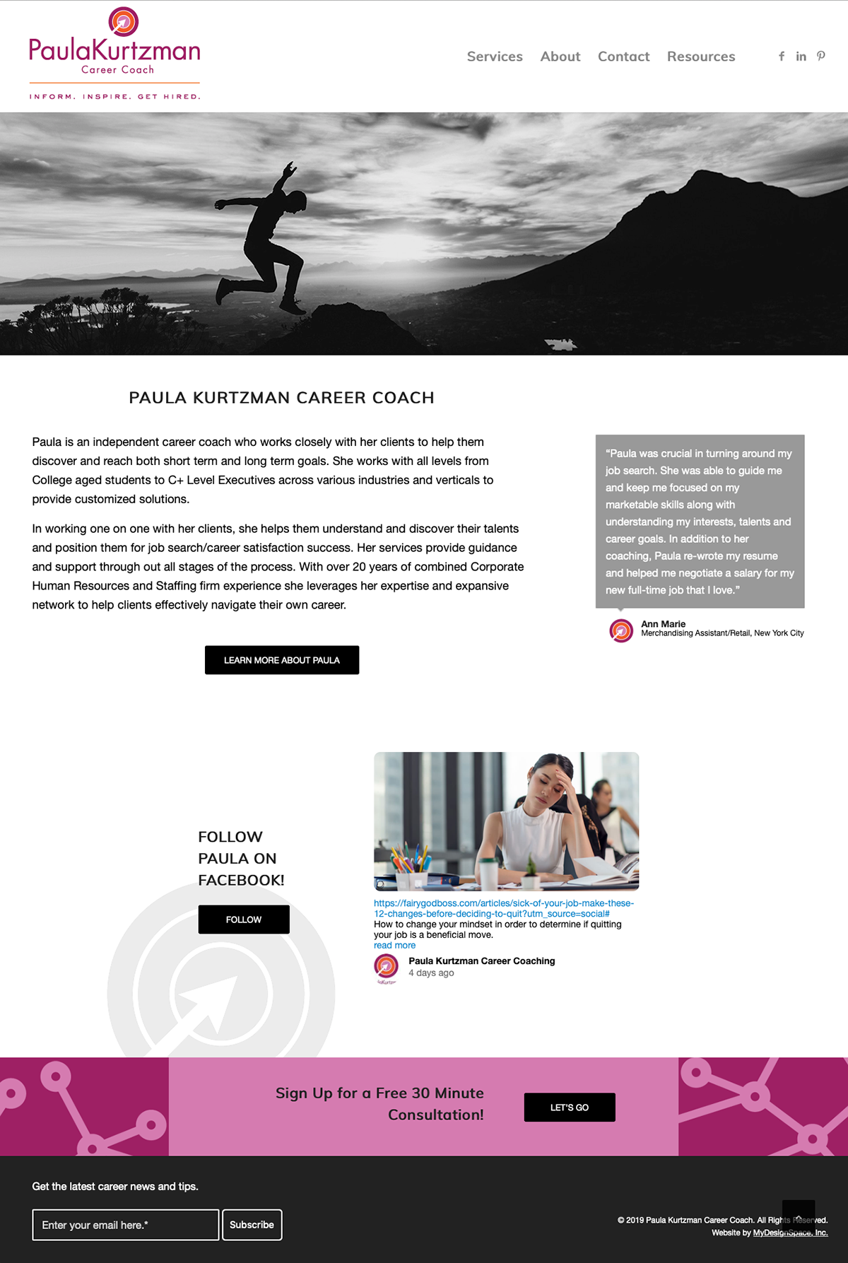 Paula Kurtzman Career Coach Home