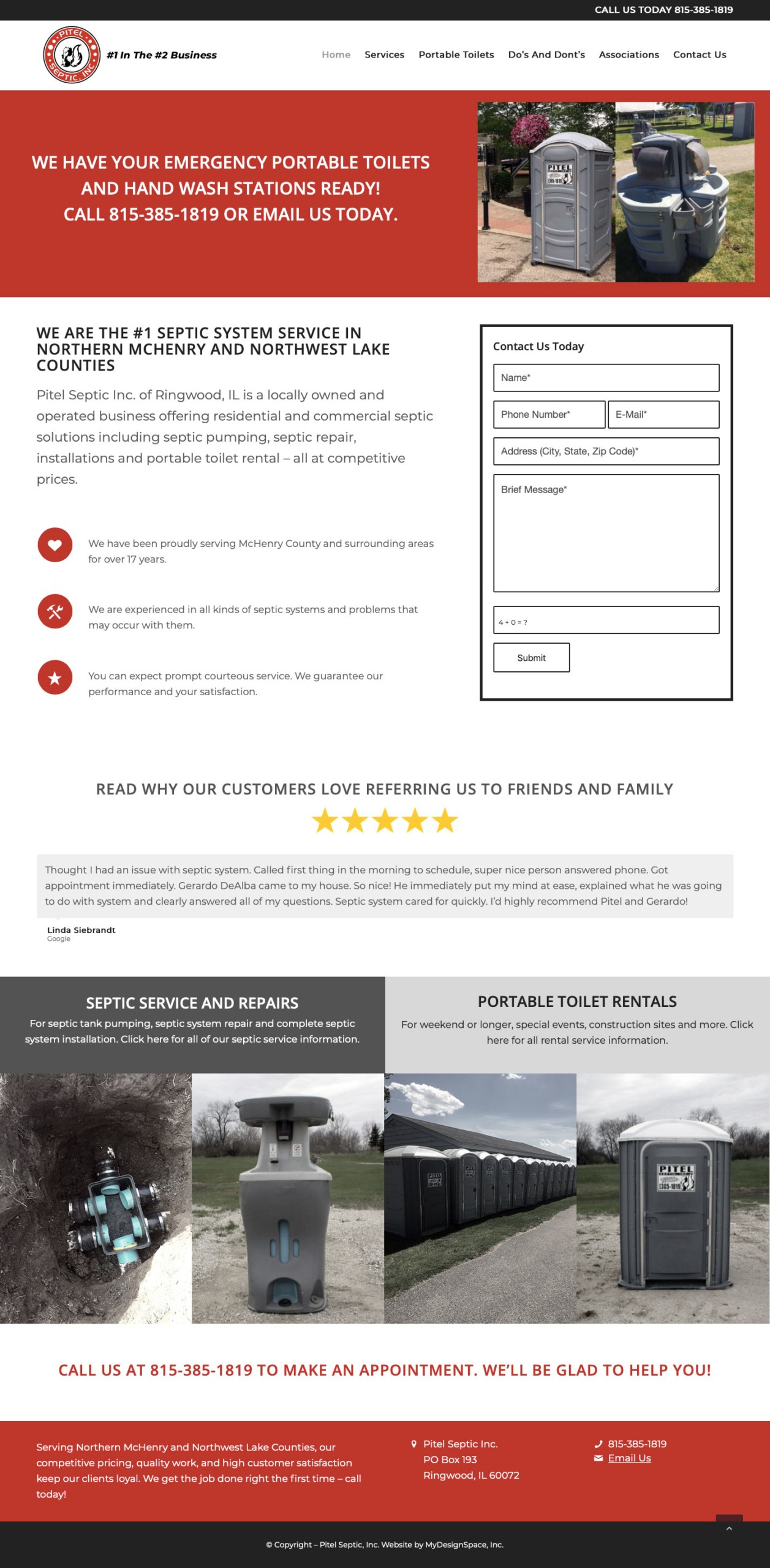 Pitel Septic Home Page