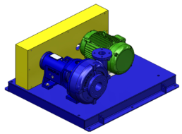 horizontal side by side pump