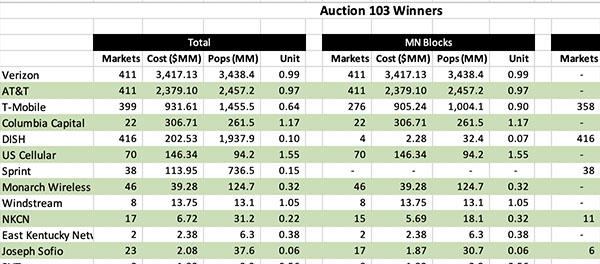 mmWave Auction Winners Sample | Moise Advisory