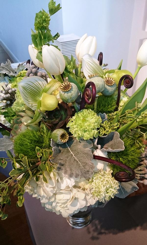 Courtney and Matt Floewr Bouquet Tabletop