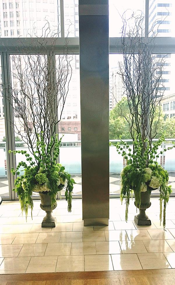 Courtney and Matt Wedding Green Floral Design