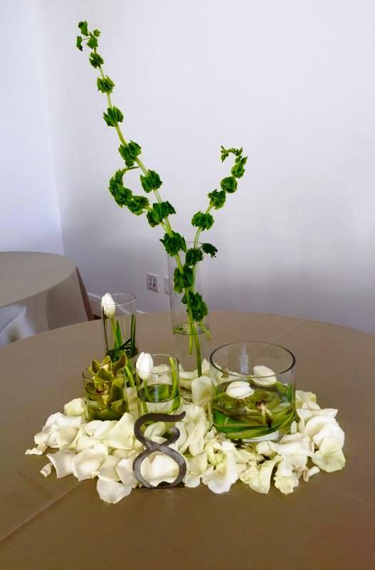 Courtney and Matt Wedding Reception Green Floral Design