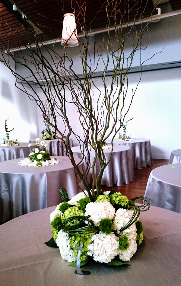 Courtney and Matt Wedding Reception Table Floral Design