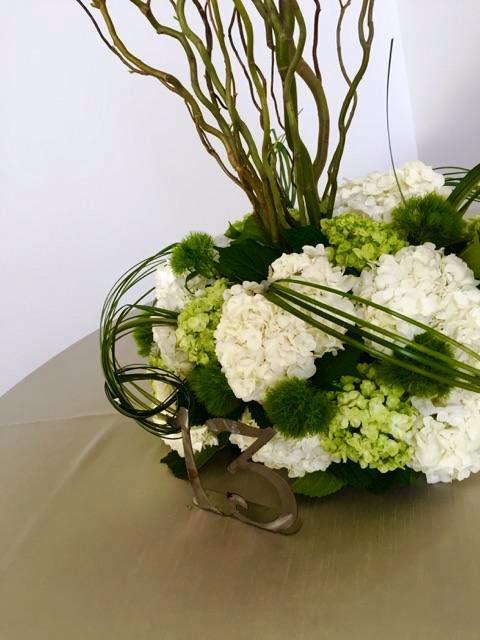 Courtney and Matt Wedding Table Floral Closeup