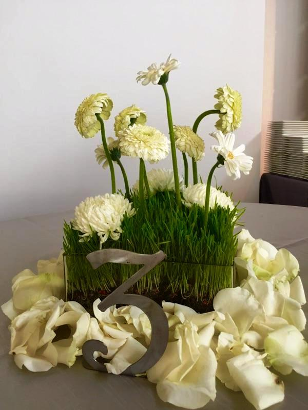 Courtney and Matt White Floral Tabletop Design
