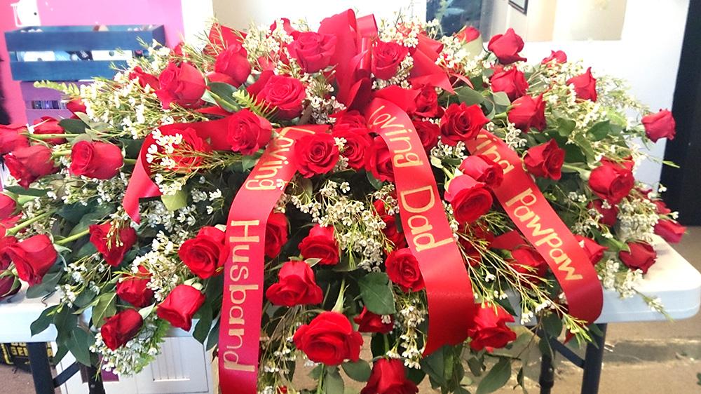 Sympathy Arrangement Flowers For Casket