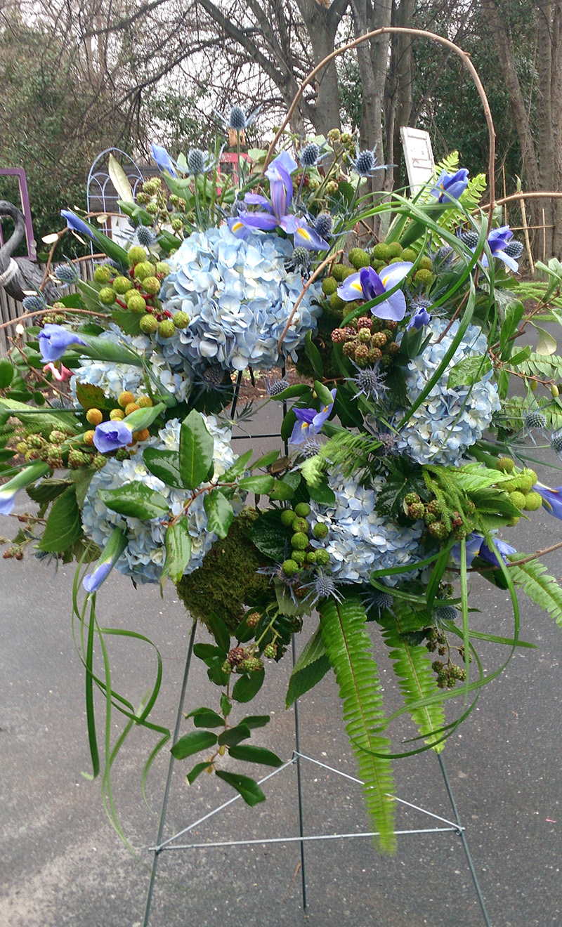 Sympathy Arrangement Standing Wreath The Flower Diva
