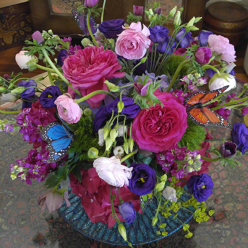 Sympathy Arrangement in Vase The Flower Diva