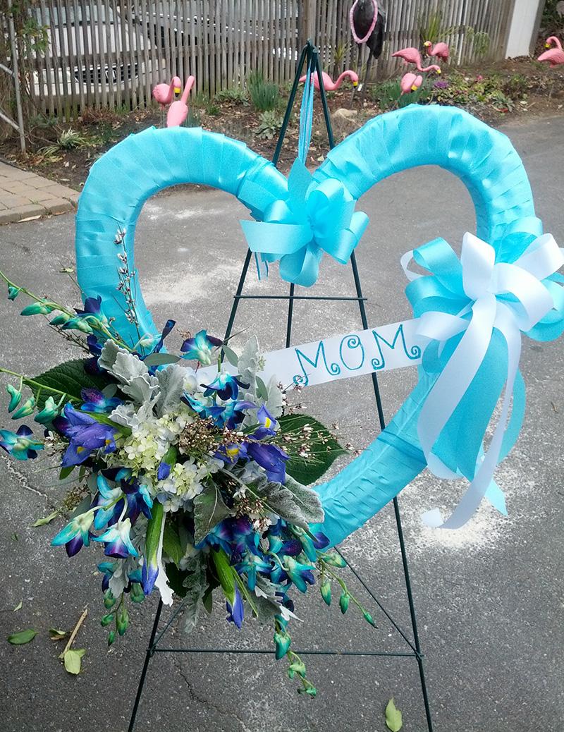 Sympathy Floral Arrangement Heart Mom