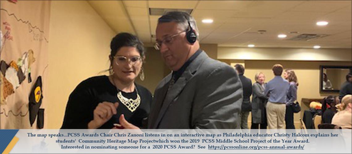 Chris Zanoni and Christy Halcom at 2019 PCSS Conference