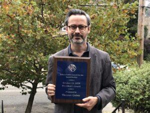 Thomas Quinn Awarded PCSS President's Award