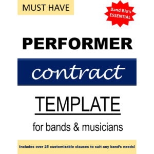 Performer Contract Template