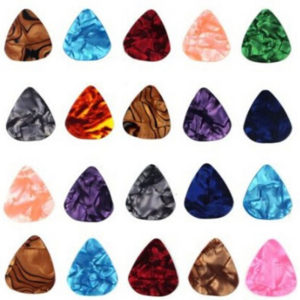 ZPS 20-pack 0.46mm Stylish Colorful Celluloid Guitar Picks