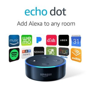 Echo Dot (2nd Generation) – Smart speaker with Alexa – Black