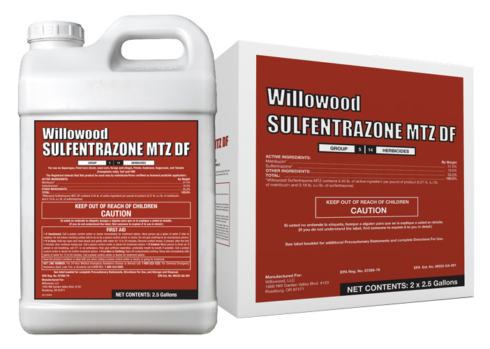 Sulfentrazone MTZ DF Box and Jug