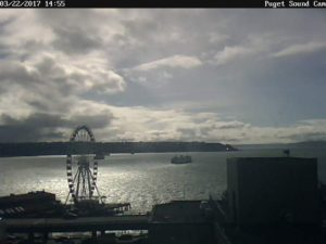 Puget Sound Cam Pretty Afternoon View