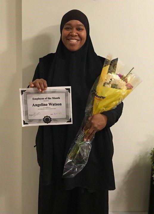 Employee of the Month!!! Angeine Watson