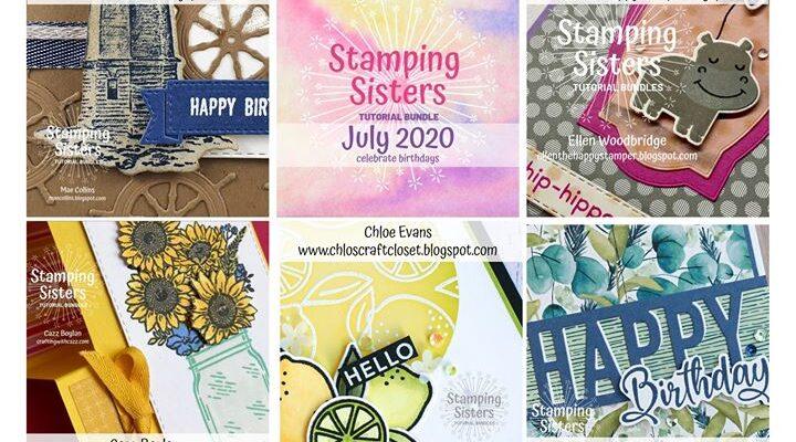Stamping Sisters July Tutorial Bundle.