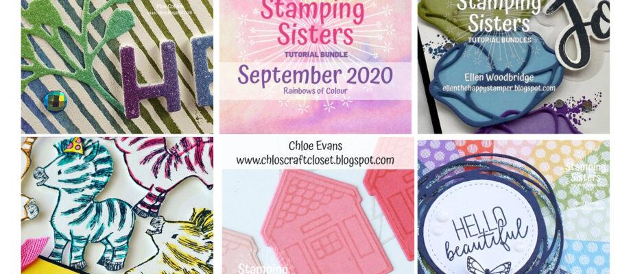 Stamping Sisters Blog Hop- Rainbows!