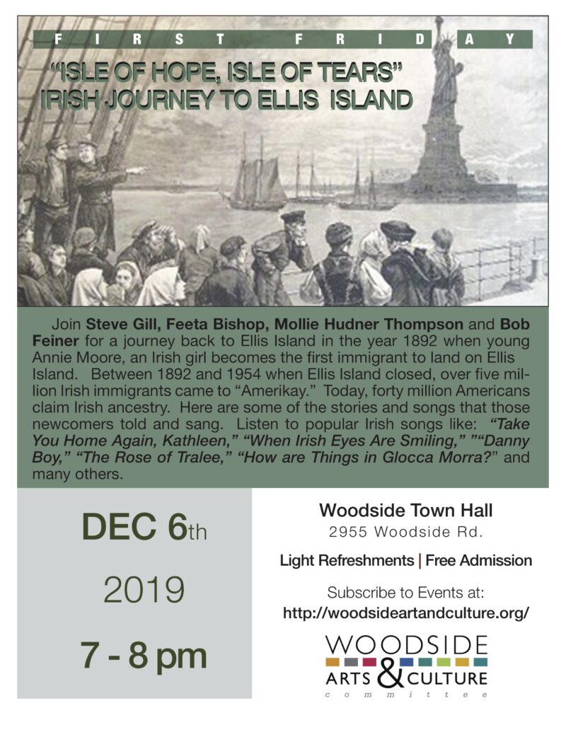 """ISLE OF HOPE, ISLE OF TEARS"" IRISH JOURNEY TO ELLIS ISLAND"