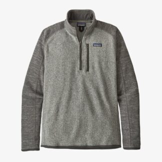 Patagonia 1/4 Zip Better Sweater - Nickel Forge with Grey