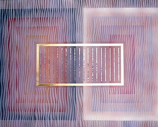 G004 Beyond Duality 30x42 Acrylic, gold leaf, crystal 5,000