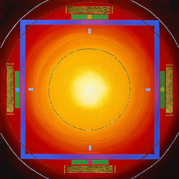 SO24 Sentinel 2 20x20 Acrylic, gold leaf, crystal 4,000