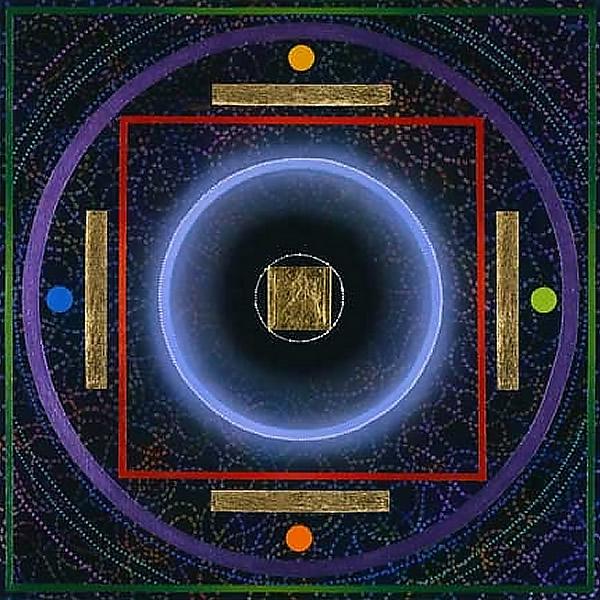 SO29 Gateless Gate 24x24 Acrylic, gold leaf 5,000