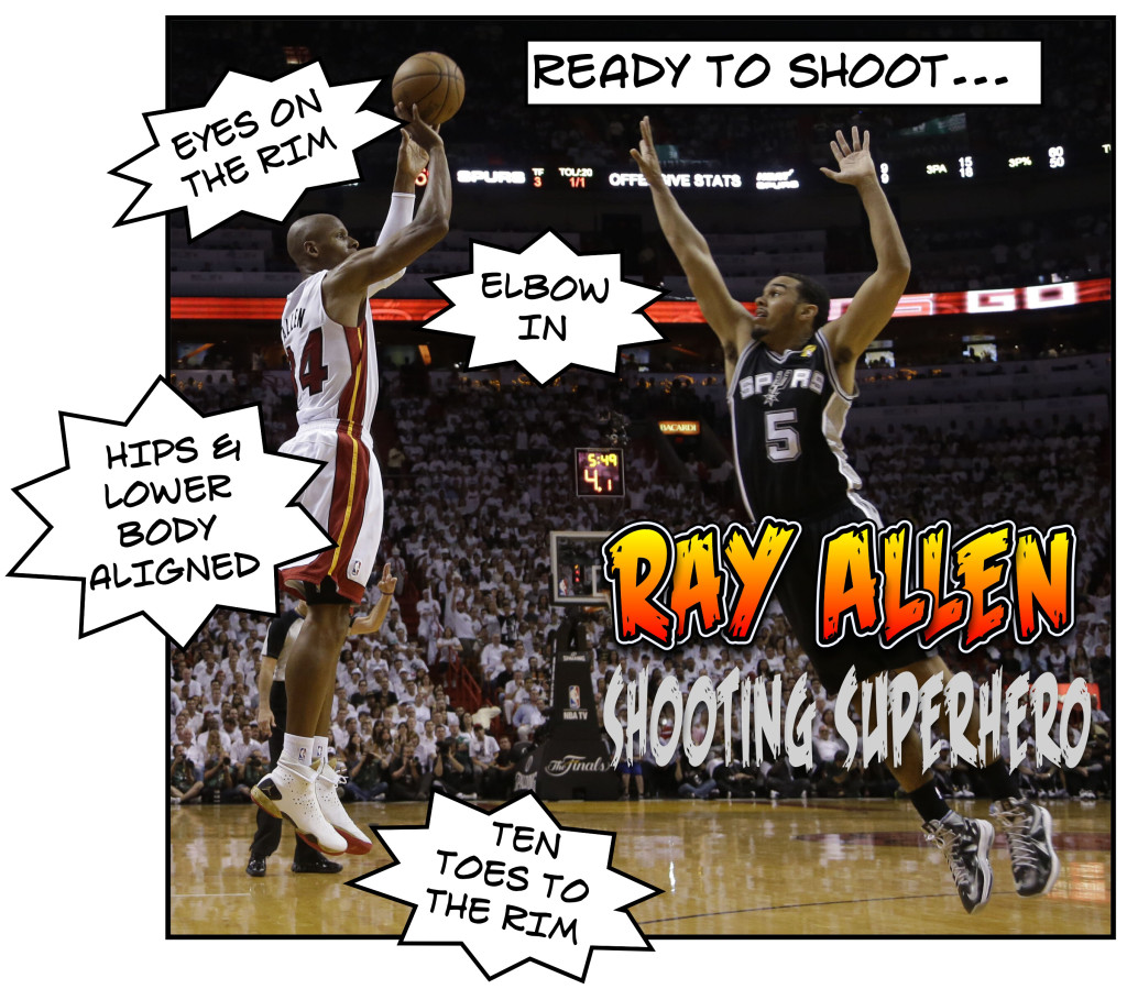Ray Allen is an superhero shooter.