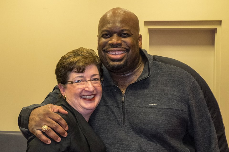 I was so excited to be able to meet 1991 graduate of The Citadel, Morris Robinson. photo by Stanley Leary
