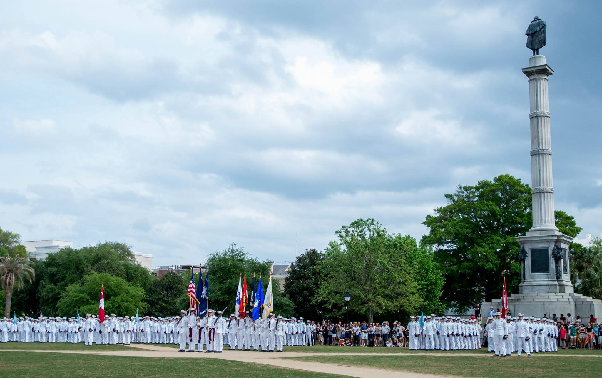 The Class of 2018 marched into Marion Square and affirmed their oath. Photo by Stacy Carter Photography Studios