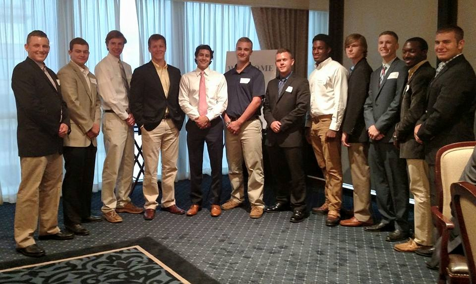 Members of the Class of 2019 from the Atlanta area gather after the Atlanta Citadel Club's annual send off dinner.